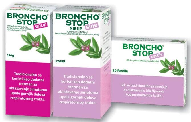 Bronchostop sirup ublažava suvi kašalj i olakšava iskašljavanje sluzi
