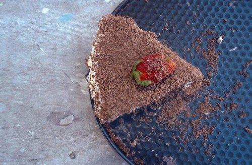 Tortu možete ukrasiti čokoladnim mrvicama, ali i voćem