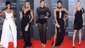 Irina Shayk, Eva Longoria, Paris Hilton, Doutzen Kroes i Winnie Harlow na imprezie L'Oreal w Cannes