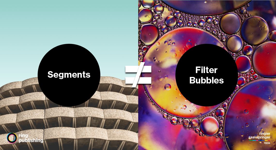 Segmentation != Filter Bubbles