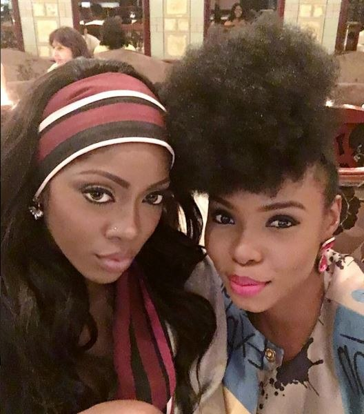Photo Of The Day Yemi Alade with 'big sister', Tiwa Savage in