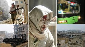 KRVAVA ZORA U ALEPU Autobusi čekaju evakuaciju pobunjenika, stigle prve fotografije iz UNIŠTENOG GRADA