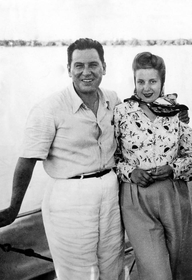 Najpoznatiji bračni par Argentine na jednom od svjih izleta na jahti