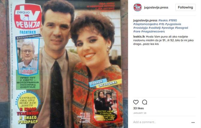 Lea Kiš na naslovnici iz 90-ih