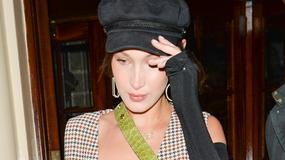 Bella Hadid w prześwitującym topie. Co ona na siebie założyła?!