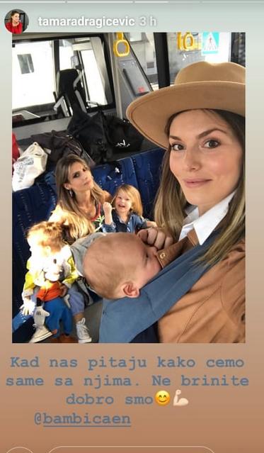 Tamara i Marija sa decom