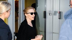 Kylie Minogue na lotnisku w Polsce
