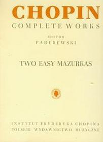 Chopin Complete Works Two Easy Mazurkas