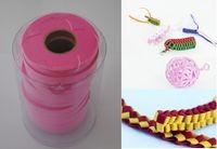Mona Wstążki filcowe 1cm x 6m kolor różowy 13 sztuk