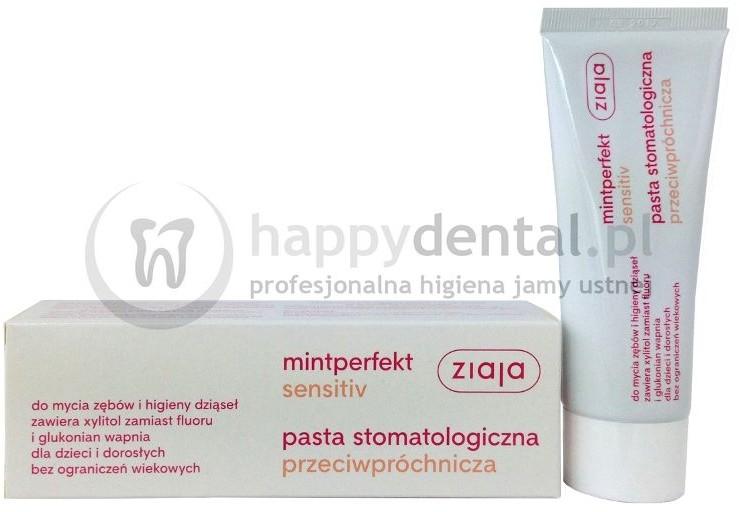 Ziaja MINTPERFECT SENSITIVE pasta 75ml - przeciwpróchnicza pasta do zębów bez fl