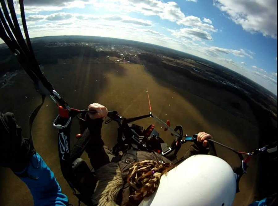 Lot paralotnią - Zielona Góra