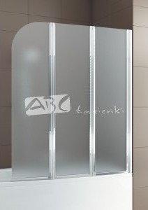 Opinie o Aquaform Trzyczęściowy parawan nawannowy Modern 3 profil chrom, szkło satinato 1