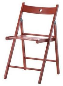 IKEA Krzesło składane, do jadalni, do kuchni, wz. TRE, czerwony 402.256.77