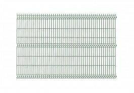 Polbram panel ogrodzeniowy 3D zielony ocynkowany 123x250 cm, oczko 50x200 mm, śr