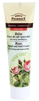 Green Pharmacy Hand Care Rose krem odżywczo-nawilżający do rąk i paznokci 0% Parabens Mineral Oils Artificial Colouring 100 ml