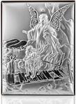 Valentini Srebrny obrazek - Anioł Stróż - Prezent dla Dziecka: Chrzest Komunia