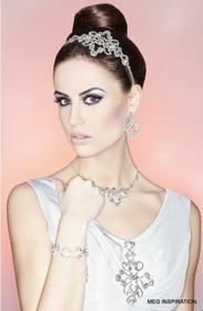 AnKa Biżuteria Komplet ślubny: kolczyki, naszyjnik, bransoletka - W stylu wiktor