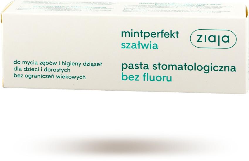 Ziaja Mintperfekt Pasta do zębów bez fluoru, szałwiowa 75 ml