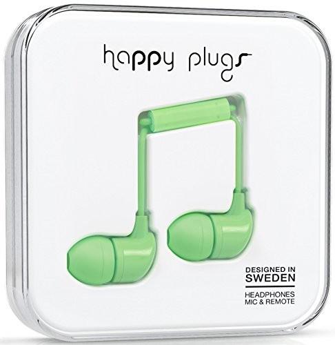 Happy Plugs Deluxe słuchawki dokanałowe z wbudowanym mikrofonem, pilotem i sylikonowymi nakładkami, kompatybilne z Apple iPhone, iPod, iPad oraz tabletami, smartfonami i odtwarzaczami MP3 z systemem A 7715