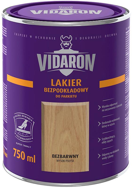 Vidaron Lakier Bezpodkładowy Bezbarwny Półmat 2,5 L