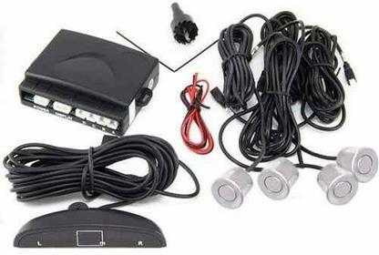 Cars Alarms Systems Profesjonalny Zestaw (Srebrnych) Czujników Parkowania z 4-se
