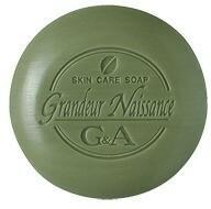 Organic G&A Tea Oczyszczająca Mydło w kostce zawiera wyciąg z Herbaty Matcha, bogata pia
