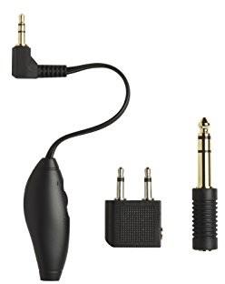 Shure adapter kit składa się z adapter do gniazda w samolocie, regulacja głośności i adapter do 1/4