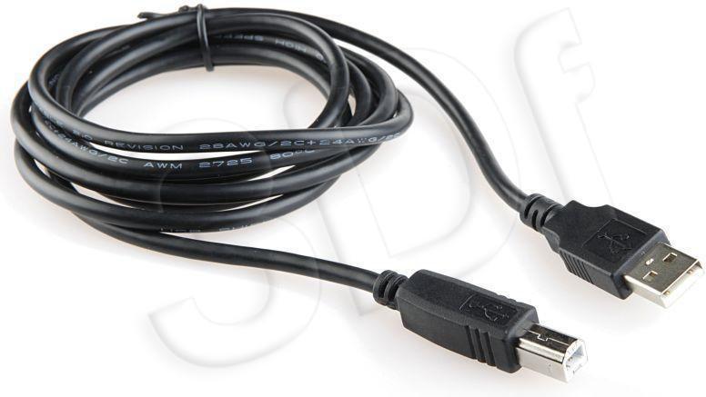 Gembird męskie - męskie Kabel USB 4.5 m black Niklowane końce (CCP-USB2-AMBM-15)