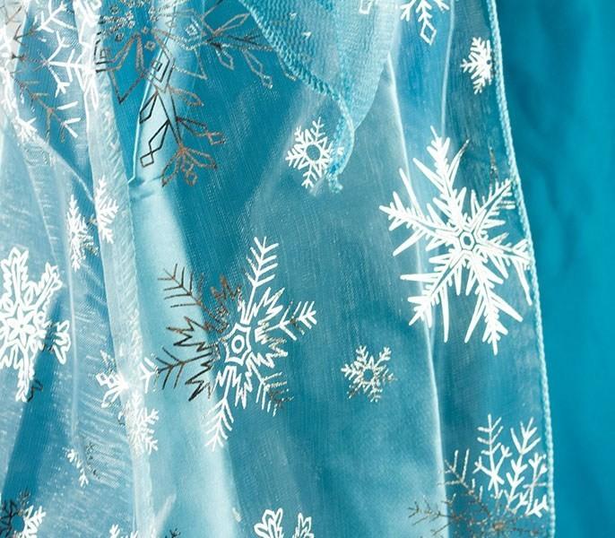 Kostium Elsa Kraina Lodu niebieska sukienka 130cm KX9212_2