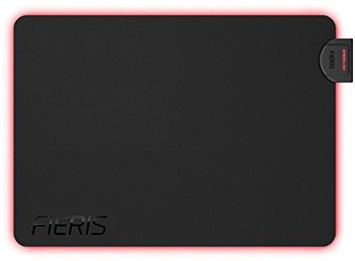 SPEEDLINK fieris podświetlany podkładka pod mysz do grania (czerwone podświetlenie, 35,5x 25,5x 0,4cm, przewód USB 1,5m) Czarny INT-SL-620103-BK
