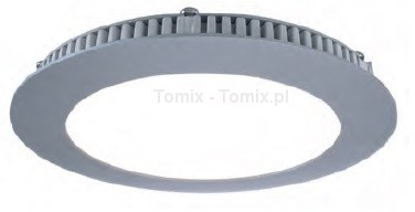 Tomix .pl Srebrny panel LED 12W ciepła biel, 2700K (D565089)