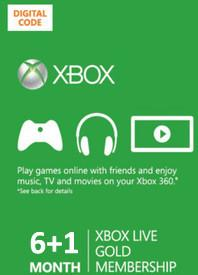 Xbox Live Gold 6+1 miesiący subskrypcja