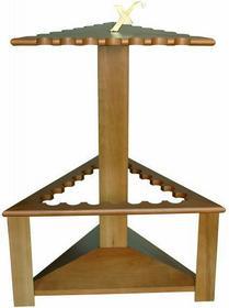 LAGIS Drewniany trójkątny stojak na 21 wędek Exori