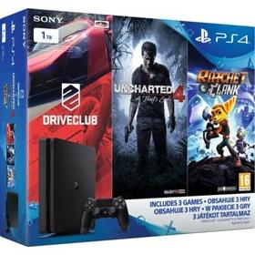 Sony  Playstation 4 Slim 1TB Czarny + Uncharted 4 + Ratchet & Clank + Drive Club