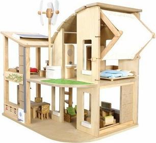 Plan Toys Ekologiczny domek dla lalek z mebelkami