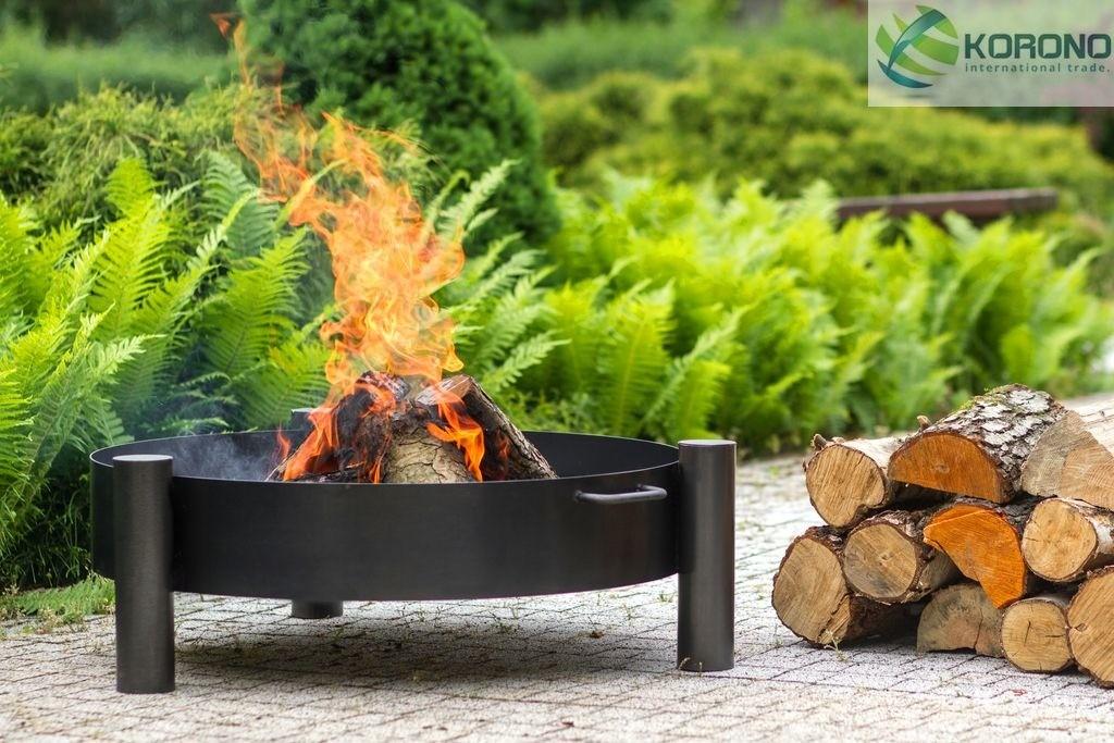 Korono Palenisko ogrodowe ze stali czarnej bez pokrywy średnica 80 cm (KOR322)