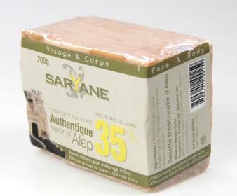 ALEPPO Mydło w kostce z 35% 200g Saryane