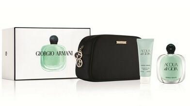 Giorgio Armani Acqua Di GIOIA balsam do ciała 75ml + kosmetyczka + woda perfumowana - 100ml