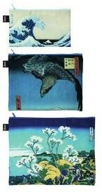 Loqi Saszetki Zip Pockets Museum 3 szt. Hokusai ZP.MU.HO