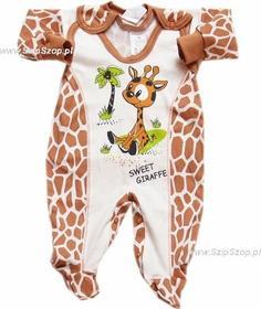 Komplet dla niemowląt Śpioszki i Kaftanik żyrafka Psotka 74