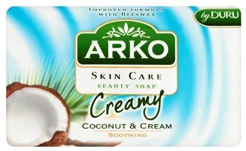 Arko SUNCO Mydło kosmetyczne Skin Care Kokos i krem Kojące 90 g