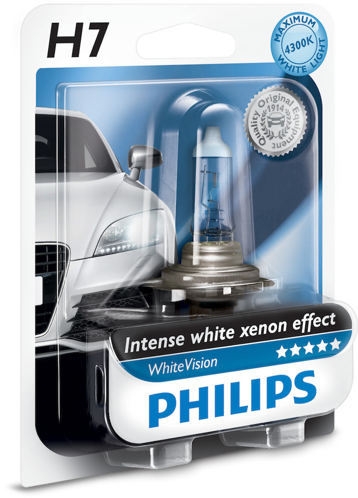 Philips H7 12V 55W PX26d 12972WHV WhiteVision B1 1 sztuka blister