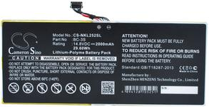 Opinie o Nokia Lumia 2520 / BC-3S 2000mAh 29.60Wh Li-Polymer 14.8V (Cameron Sino) CS-NKL2