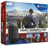 Opinie o Sony PlayStation 4 Slim 1TB Czarny + Watch Dogs + Watch Dogs 2
