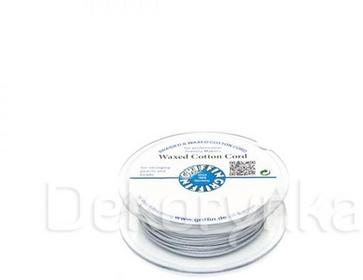 Griffin WAXED COTTON CORD Bawełniany sznurek woskowany 1mm 20m - Light Grey