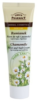 Green Pharmacy Hand Care Chamomile krem regenerująco-kojący do rąk i paznokci 0% Artificial Colouring 100 ml