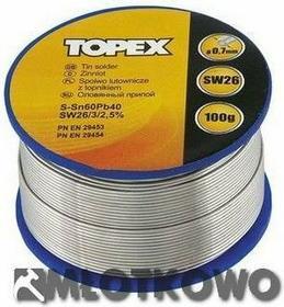 TOPEX Lut cynowy 60% Sn, drut 1.0 mm, 100 g 44E522