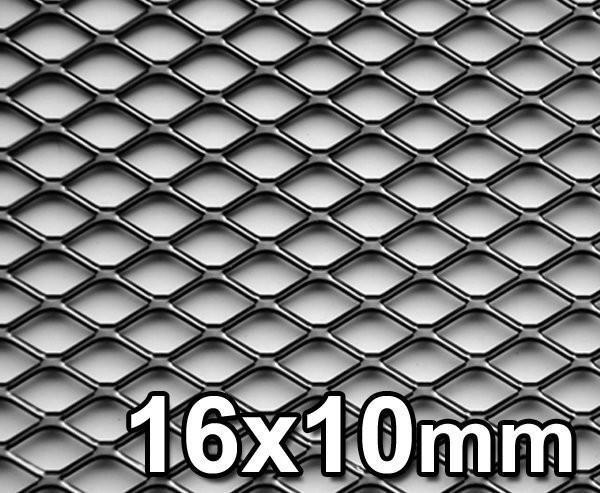 GJK Styling Siatka tuningowa Czarna 16mm x 10mm 100cm x 30cm BL 16X10 30X100