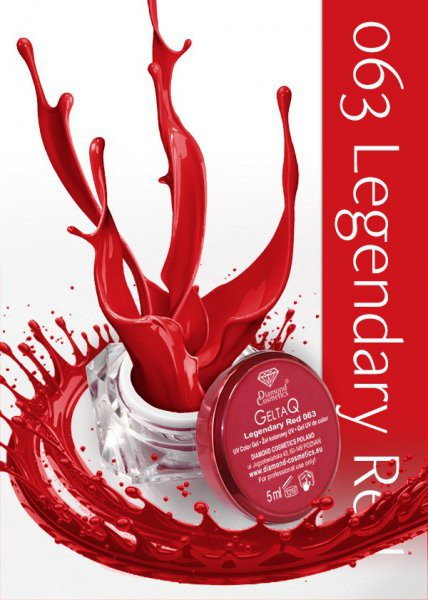 Semilac Diamond Żel UV kolor GeltaQ 063 Legendary Red