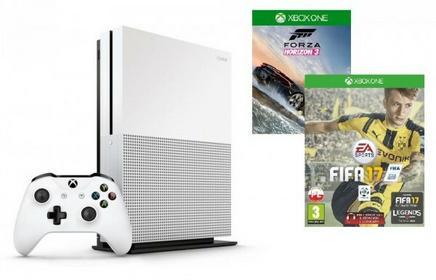 Microsoft Xbox One S Biały 500 GB + FIFA17 + Forza Horizon 3
